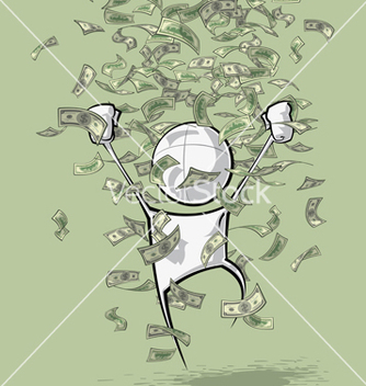 Free simple people money rain vector - Kostenloses vector #236685