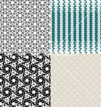 Free set of geometric pattern in op art design art vector - Free vector #236725