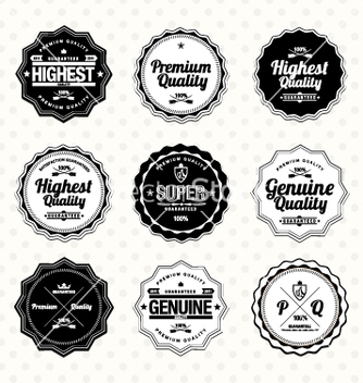 Free premium and high quality labels vector - vector #236775 gratis