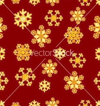 Free christmas seamless pattern of gold snowflakes vector - Free vector #236815