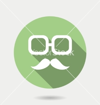 Free hipster icon with long shadow hipster moustaches vector - Kostenloses vector #236905