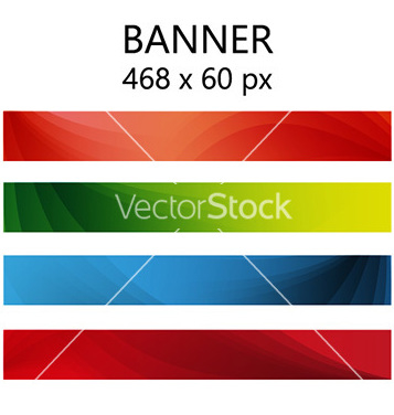Vector de color abstracto de banner gratis - vector #236935 gratis