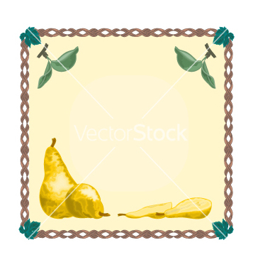 Free button pear with leaves vector - Free vector #236975