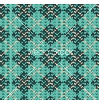Free seamless rhombus blue color knitted pattern vector - Kostenloses vector #237075