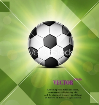 Free soccer ball web icon on a flat geometric abstract vector - бесплатный vector #237115
