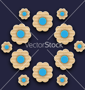 Free paper flowers background handmade composition vector - vector #237175 gratis