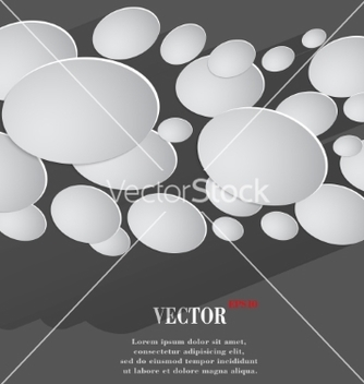 Free abstract flat modern web button with long shadow vector - Free vector #237265