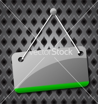Free blank hanging sign for your text on an abstract vector - бесплатный vector #237295