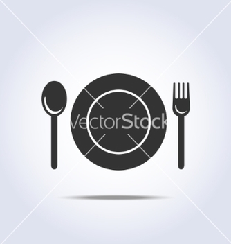 Free fork spun plate icon vector - Free vector #237415