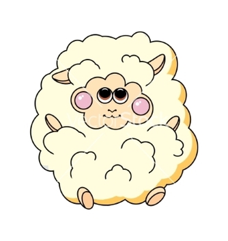 Free fun sheep on white background vector - vector gratuit #237445