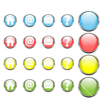 Free glossy web buttons vector - Free vector #237515
