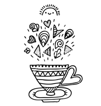 Free doodle cup with ornaments vector - vector gratuit #237525