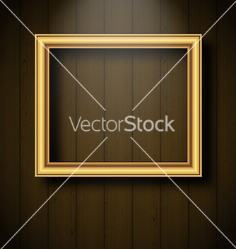 Free vintage picture frame on wooden wall vector - бесплатный vector #237535