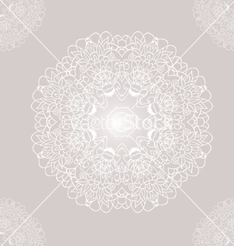 Free ornamental round lace with damask and arabesque vector - vector gratuit #237635