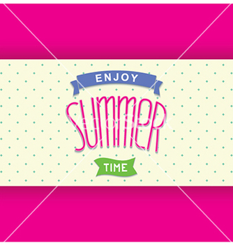 Free abstract summer card template vector - Free vector #237725