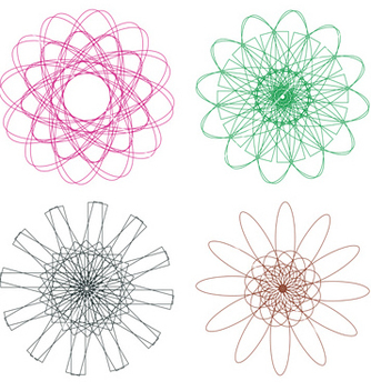 Free colorful spirographs3 vector - Free vector #237915