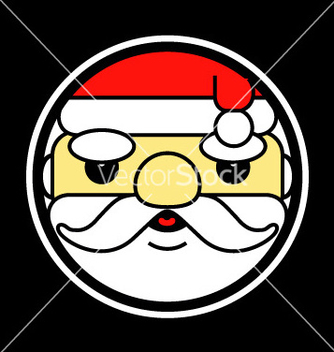 Free cartoon of a santa claus head vector - бесплатный vector #237955