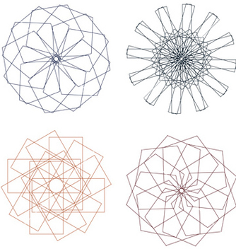 Free colorful spirographs vector - vector gratuit #238035