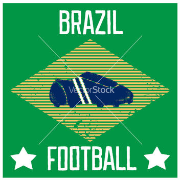 Free poster for the world cup in brazil vector - бесплатный vector #238055