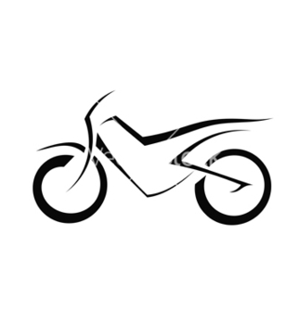 Free black silhouette of a motorcycle vector - vector gratuit #238115