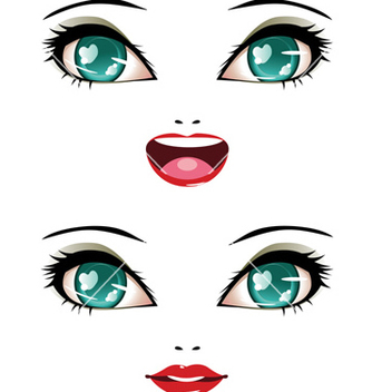 Free stylized female face vector - Free vector #238125
