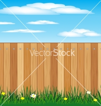 Free wooden fence vector - бесплатный vector #238365