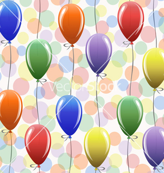 Free seamless pattern with balloons vector - Free vector #238385