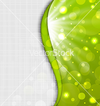 Free abstract green background with bokeh effect vector - Free vector #238415