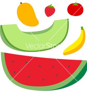 Free fruits set vector - vector #238425 gratis