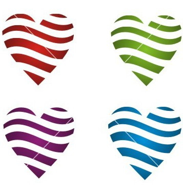 Free dynamic color heart vector - vector gratuit #238455