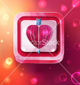 Free valentines day card with arrow vector - Free vector #238465