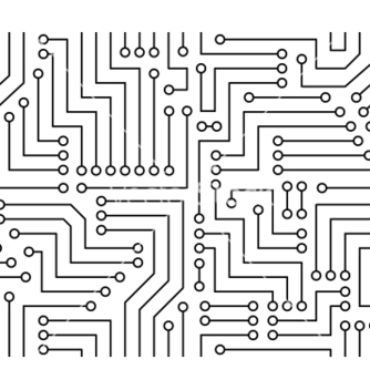 Free black and white printed circuit board vector - vector #238495 gratis