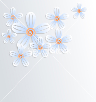 Free floral background with camomiles vector - Free vector #238505