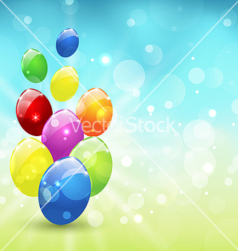 Free easter set colorful eggs holiday background vector - Free vector #238535