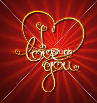 Free glamorous gold i love you vector - Free vector #238545