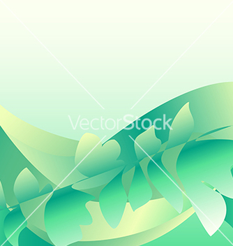 Free green waves with a branch vector - vector gratuit #238615