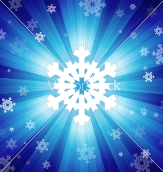 Free blue color burst of light with snowflakes vector - Kostenloses vector #238735