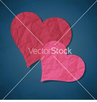 Free two hearts from paper vector - бесплатный vector #238855