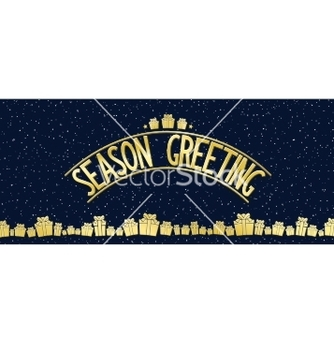 Free greeting card with gold lettering design vector - vector gratuit #238935