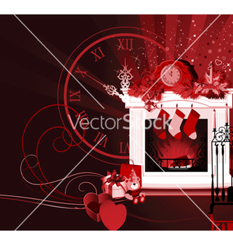Free christmas room vector - Free vector #239195