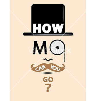 Free movember design vector - бесплатный vector #239235