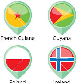 Free international flags pointer sample vector - vector gratuit #239265