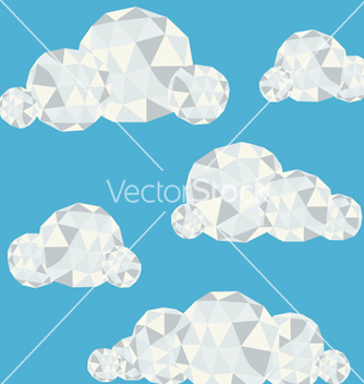 Free polygonal clouds in summer sky vector - Free vector #239275
