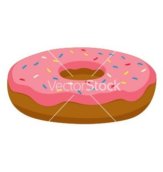 Free pink donut vector - Free vector #239545