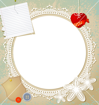 Free vintage doily on the old grunge background vector - Free vector #239745