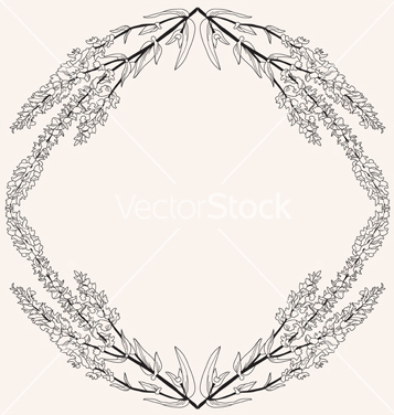 Free floral frame vector - Free vector #239805