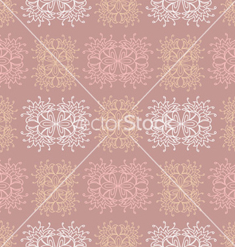 Free brown ethnic lace seamless pattern vector - Kostenloses vector #239825