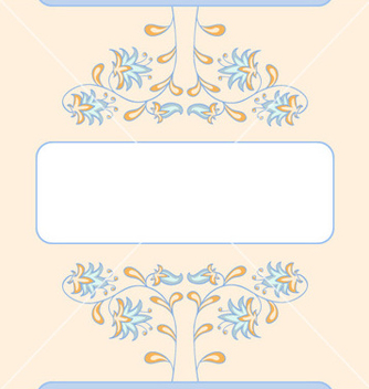 Free floral summer card template vector - бесплатный vector #239875