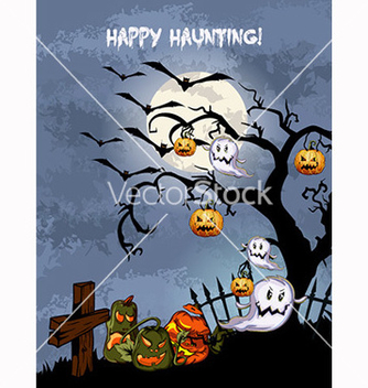 Free halloween background vector - бесплатный vector #239915