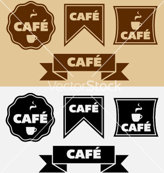 Free vintage cafe badges and banners vector - vector gratuit #240015